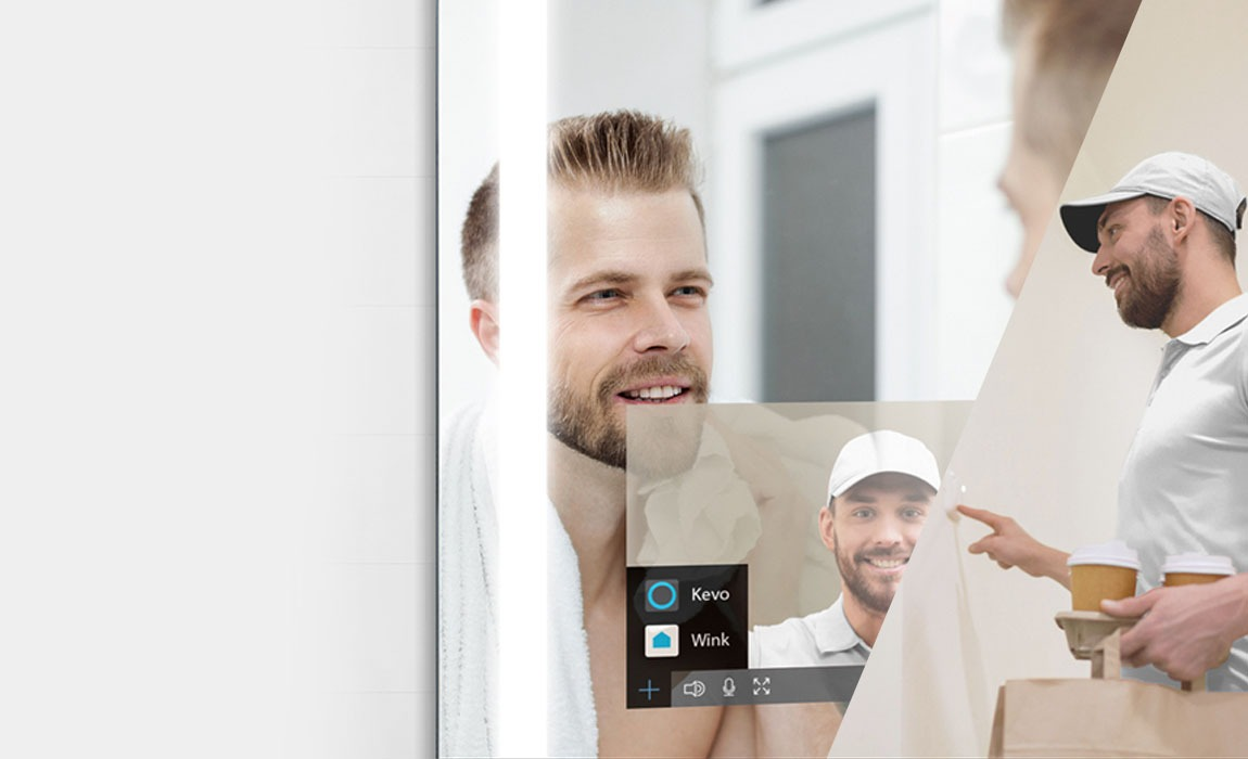 QAIO Smart Mirror Digital Ring Connected