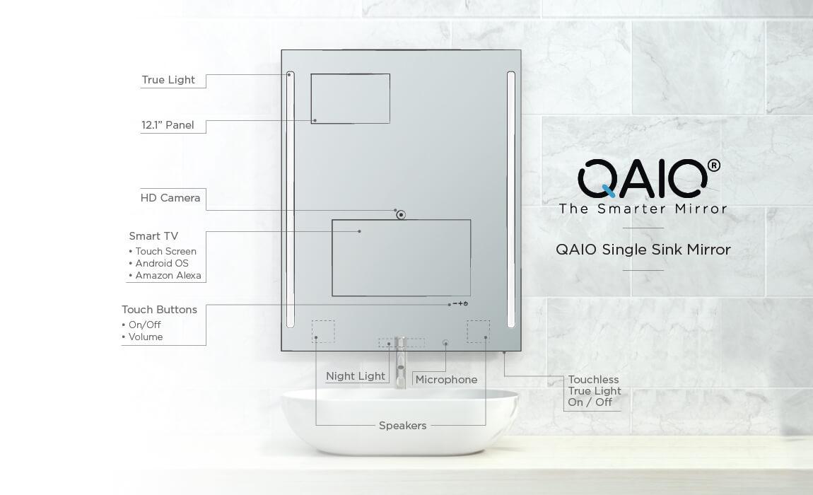 QAIO Single Sink Mirror Parts
